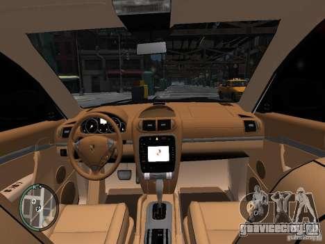 Porsche Cayenne Turbo 2003 v.2.0 для GTA 4 вид изнутри
