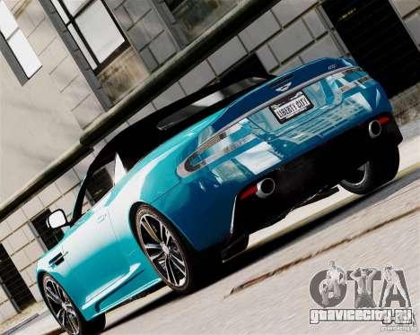 Aston Martin DBS Volante 2010 v1.5 Diamond для GTA 4 вид справа