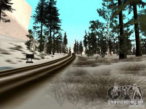 Зима для GTA San Andreas восьмой скриншот