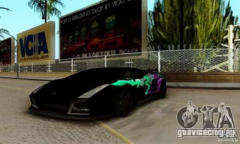Lamborghini Gallardo для GTA San Andreas вид сверху