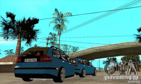 Volvo V40 Gespann для GTA San Andreas вид справа
