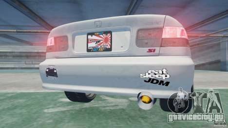Honda Civic Si 1999 JDM [EPM] для GTA 4 вид сзади