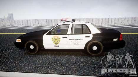 Ford Crown Victoria Raccoon City Police Car для GTA 4 вид слева