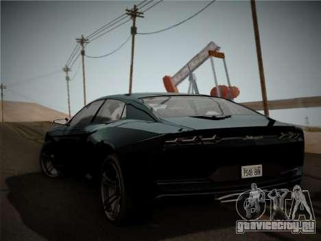 Lamborghini Estoque Concept 2008 для GTA San Andreas вид справа