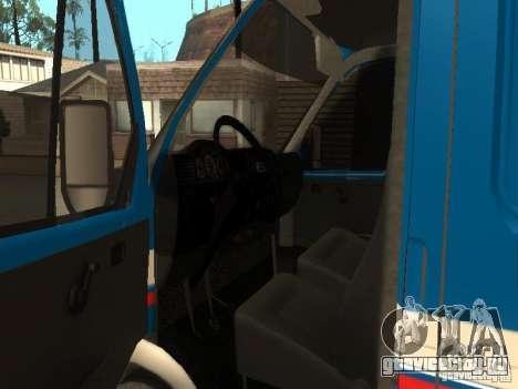 ГАЗель 2705 Почта России для GTA San Andreas вид справа