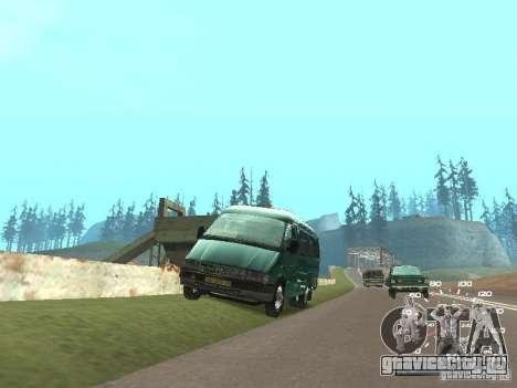 ГАЗ 32213 для GTA San Andreas вид сзади слева
