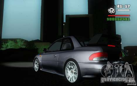 Subaru Impreza 22B для GTA San Andreas вид слева