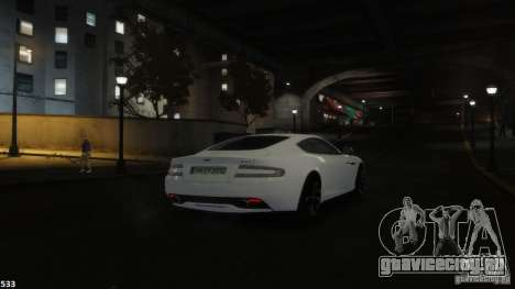 Aston Martin Virage 2012 v1.0 для GTA 4 салон