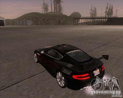 Aston Martin DB9 tunable для GTA San Andreas вид справа