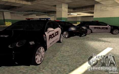 Porsche Cayenne Turbo 958 Seacrest Police для GTA San Andreas вид сзади