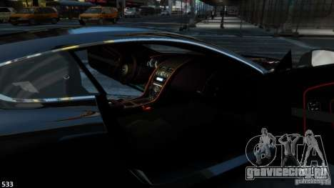 Aston Martin Virage 2012 v1.0 для GTA 4 вид справа