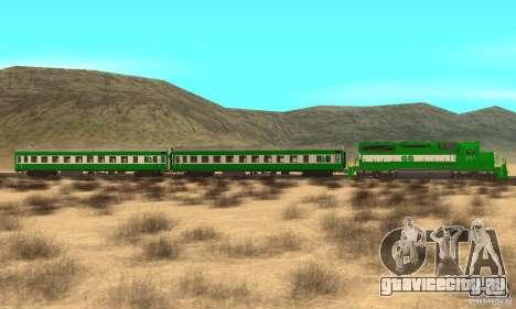 THE GO Transit Train для GTA San Andreas вид слева