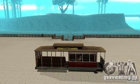 Tram для GTA San Andreas вид сзади слева