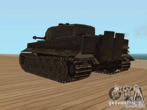 Pzkpfw VI Tiger для GTA San Andreas вид слева