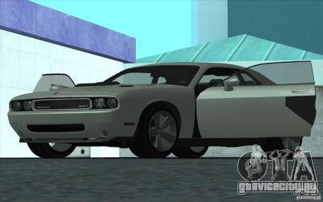Dodge Challenger SRT8 для GTA San Andreas вид сзади слева