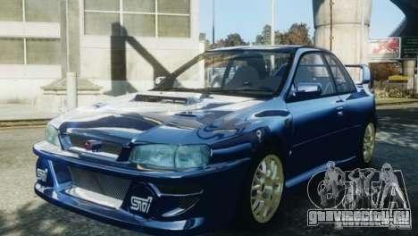 Subaru Impreza 22B 1998 для GTA 4 вид справа