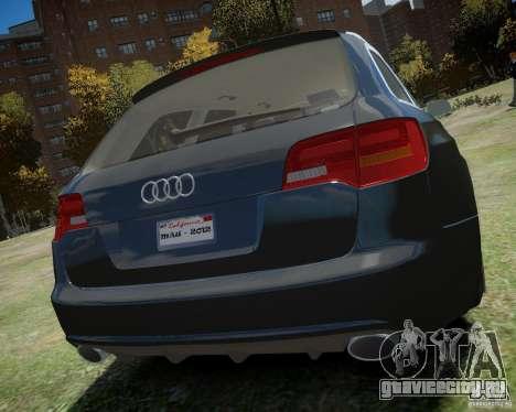 Audi A6 Avant Stanced для GTA 4 вид справа