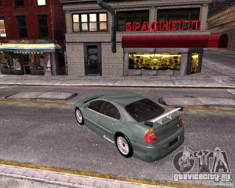 Chrysler 300M tuning для GTA San Andreas вид изнутри