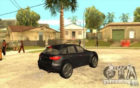 Infiniti FX50 Beta для GTA San Andreas вид справа