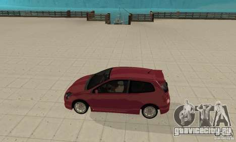 Honda Civic Type R - Stock + Airbags для GTA San Andreas вид сзади слева