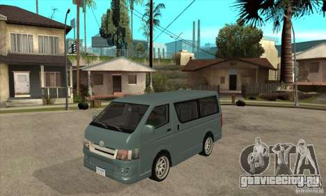 Toyota Hiace для GTA San Andreas вид слева