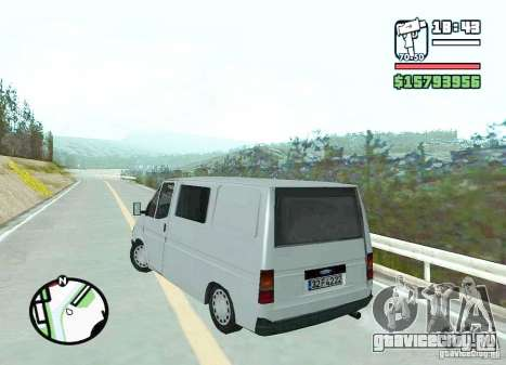 Ford Transit 1999 для GTA San Andreas вид сзади слева