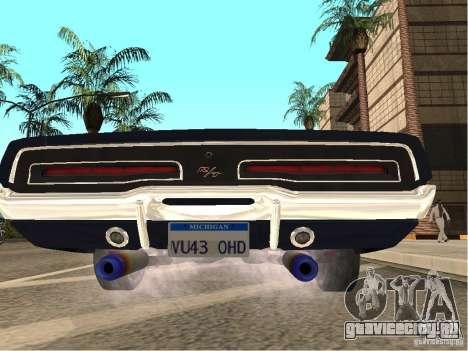 Dodge Charger RT Light Tuning для GTA San Andreas вид сзади слева
