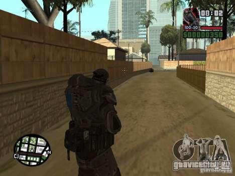 Маркус Феникс из Gears of War 2 для GTA San Andreas четвёртый скриншот