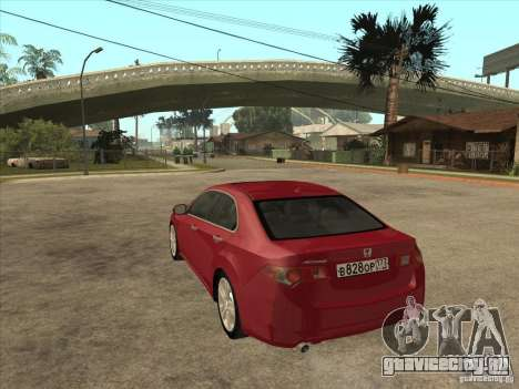 Honda Accord 2010 для GTA San Andreas вид сзади слева