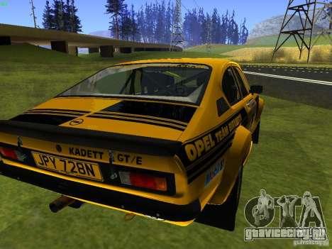 Opel Kadett для GTA San Andreas вид слева