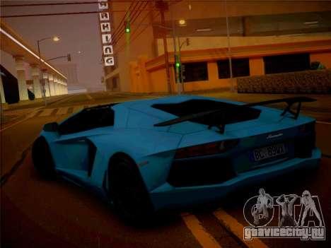 Lamborghini Aventador LP700-4 Roadstar для GTA San Andreas вид сзади слева