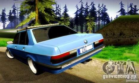 BMW E28 525е RatStyle Nr1 для GTA San Andreas вид сверху