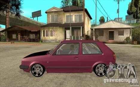 VW Golf 2 GTI для GTA San Andreas вид слева
