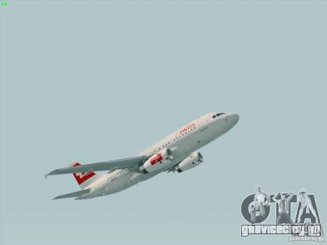 Airbus A319-112 Swiss International Air Lines для GTA San Andreas вид слева