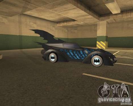 Бэтмобиль для GTA San Andreas вид справа