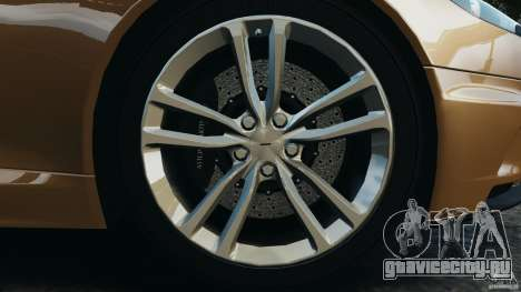Aston Martin DBS Volante [Final] для GTA 4 вид снизу