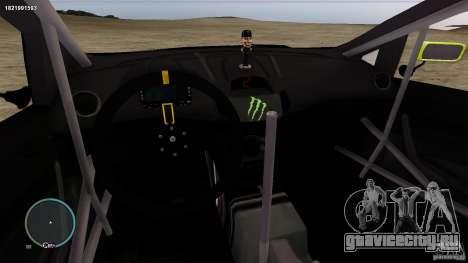 Ken Block Ford Fiesta 2011 для GTA 4 вид изнутри