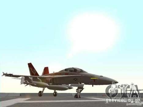 FA-18D Hornet для GTA San Andreas вид слева