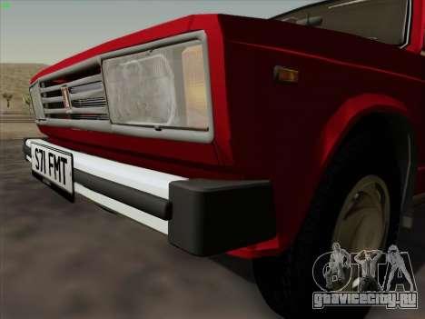 Lada 2105 RIVA (Экспортная) 2.0 для GTA San Andreas вид сзади