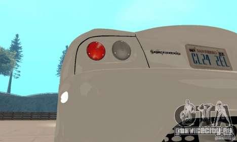 Panoz Esperante GTLM 2005 для GTA San Andreas вид изнутри