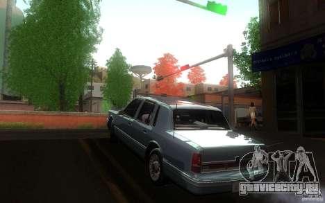 Lincoln Towncar 1991 для GTA San Andreas вид сзади слева