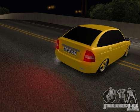 Lada Priora Хэтчбек для GTA San Andreas вид сзади слева