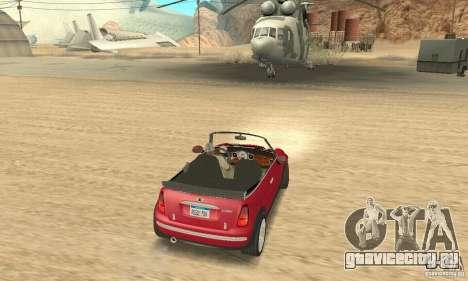 Mini Cooper Convertible для GTA San Andreas вид слева