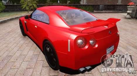 Nissan GTR R35 v1.0 для GTA 4 вид сзади