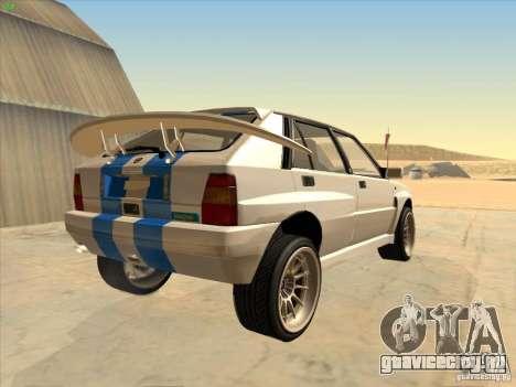Lancia Integrale Evo для GTA San Andreas вид справа