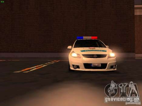 Suzuki SX-4 Hungary Police для GTA San Andreas двигатель