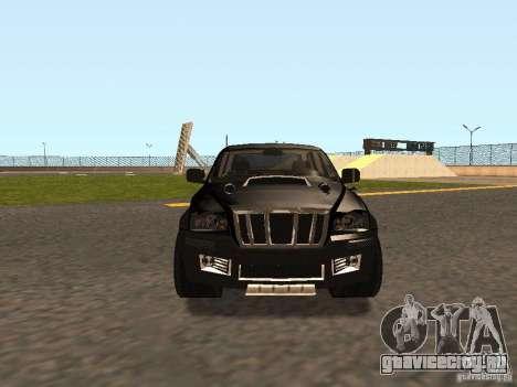 Jeep Grand Cherokee Black для GTA San Andreas вид слева