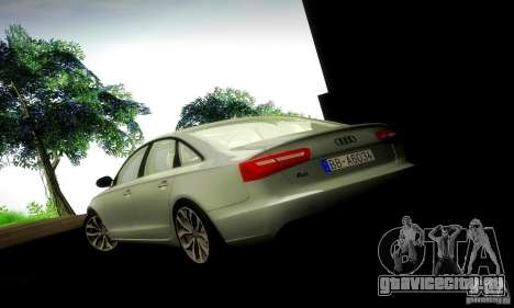 Audi A6 2012 для GTA San Andreas салон