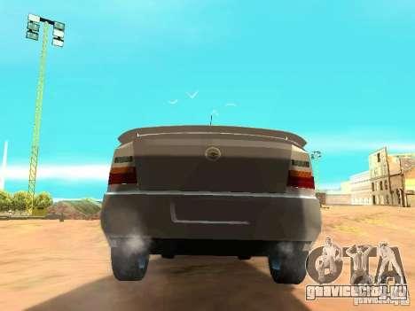 Chevrolet Astra Hatch 2010 для GTA San Andreas вид сзади слева