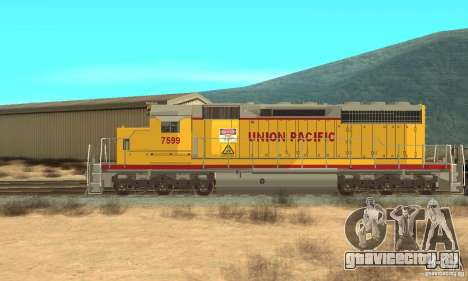 Локомотив SD 40 Union Pacific для GTA San Andreas вид сзади слева